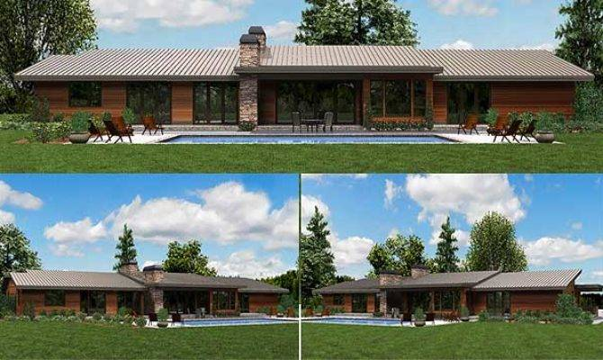Plan Stunning Contemporary Ranch Home