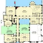Plan Tuscan Home Two Courtyards