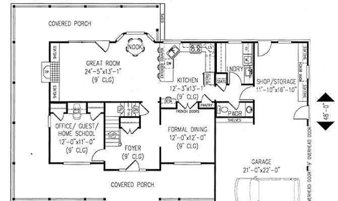 Plan Wrap Around Porch Architectural Design