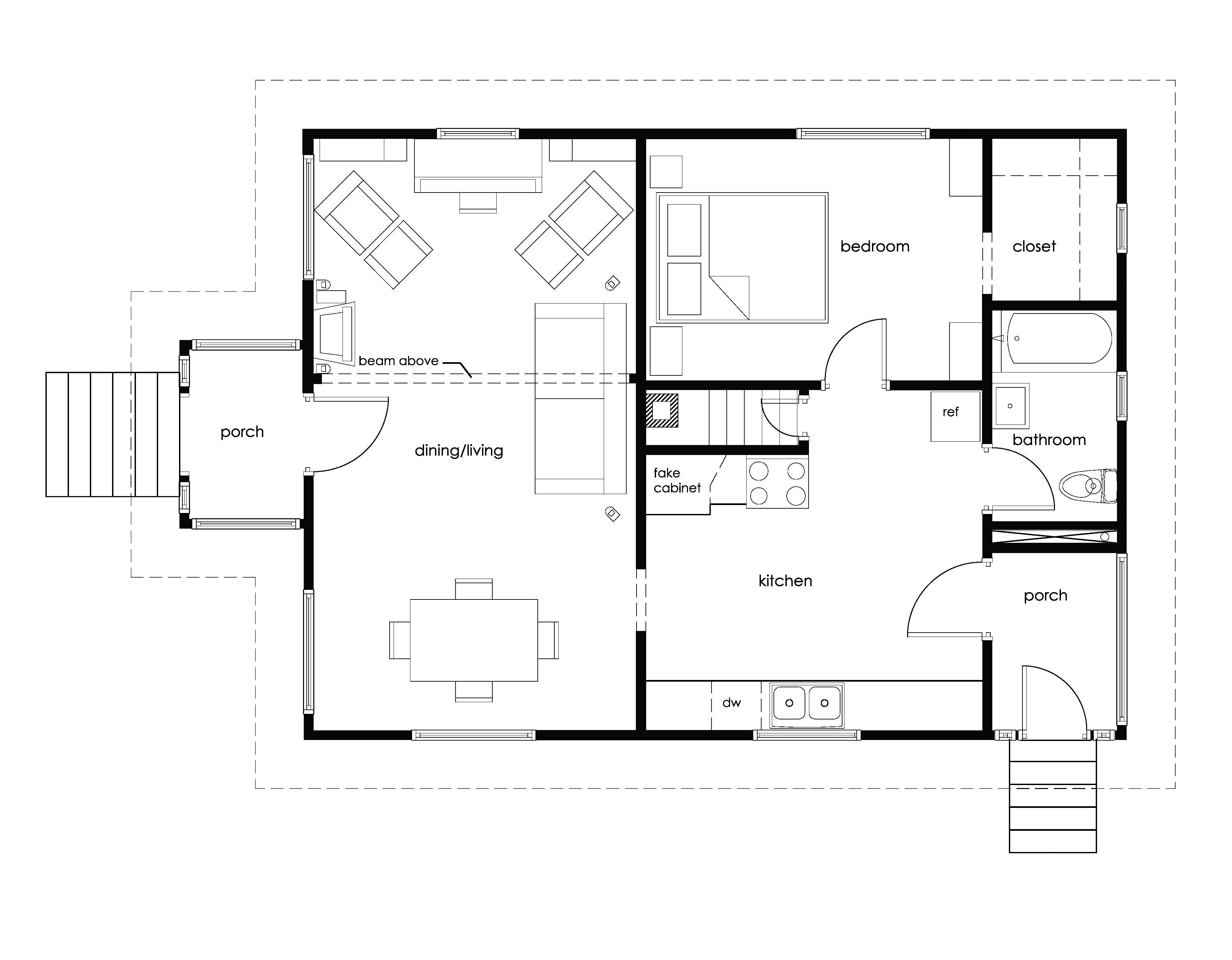 Blueprint House Furniture Floor Plan