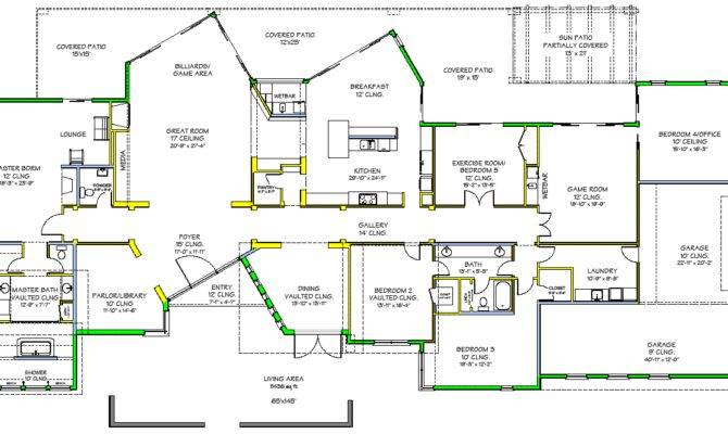Plano Casa Lujosa Estilo Moderno Contemporaneo