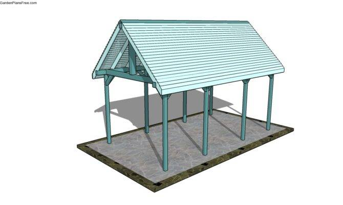 Plans Attached Carport Outdoor Pavilion