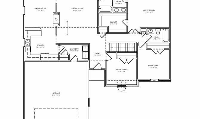 Plans Bedroom House Floor Ranch Plan Three