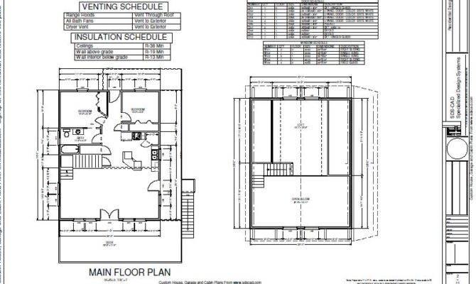 Plans Blueprint Cabin