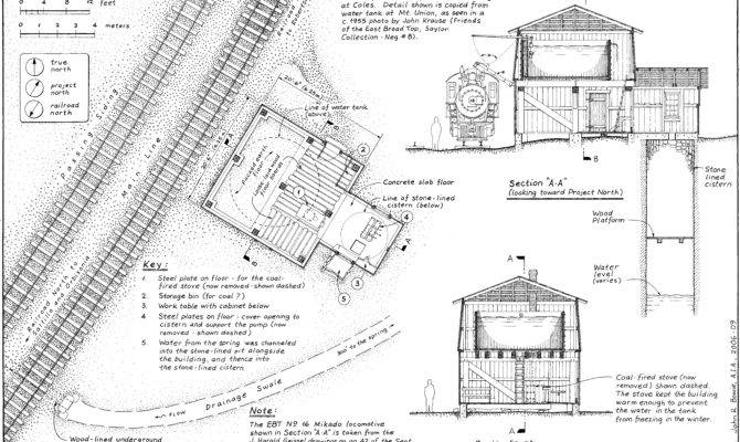 Plans Enclosed Water Tower East Broad Top Railroad
