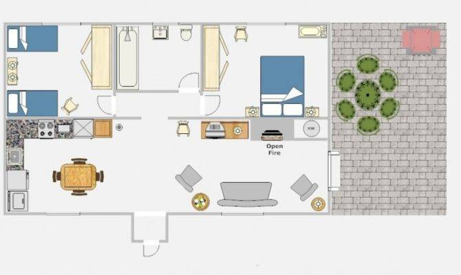 Plans Modern Minimalist Home Floor Plan Two Suits Cottage