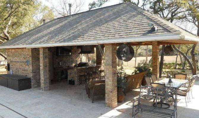 Plans Outdoor Bbq Pool Houses Kitchen Bars House
