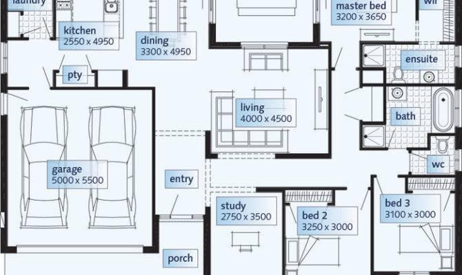 Plans Single Storey House Home Designs Custom