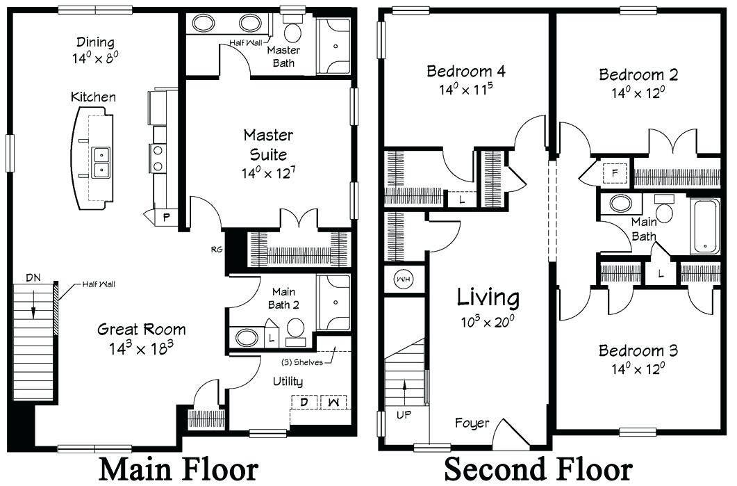 Plans Two Storey House Designs Floor