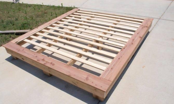 Platform Bed Plans King Diy Blueprints