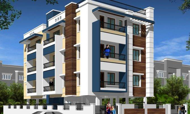 Pleasant Modern Apartment Building Elevations Home
