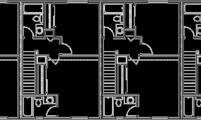 Plex Plans Narrow Townhouse