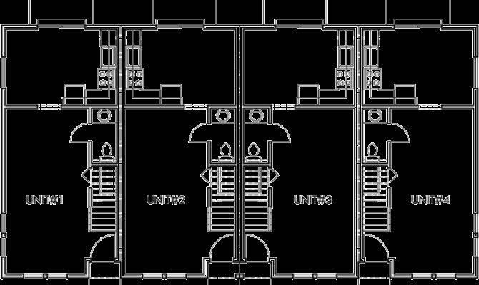 Plex Plans Townhome Wide House