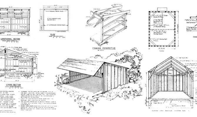 Pole Shed Barn Building Plans Designs