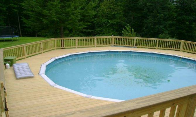 Pool Deck Furniture Round Plans Decks Around