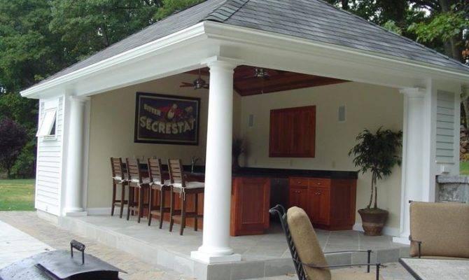 Pool House Bar Pools Side Design Cabana Plans