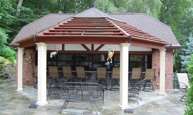 Pool House Designs Small Bar Design Finished Outdoor Area