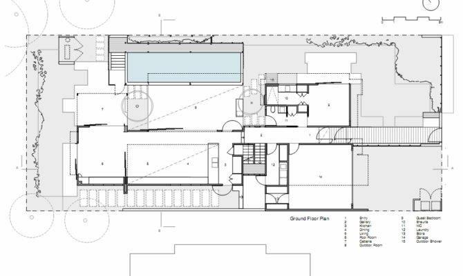 Pool House Floor Plans Archdaily Sunshine Beach