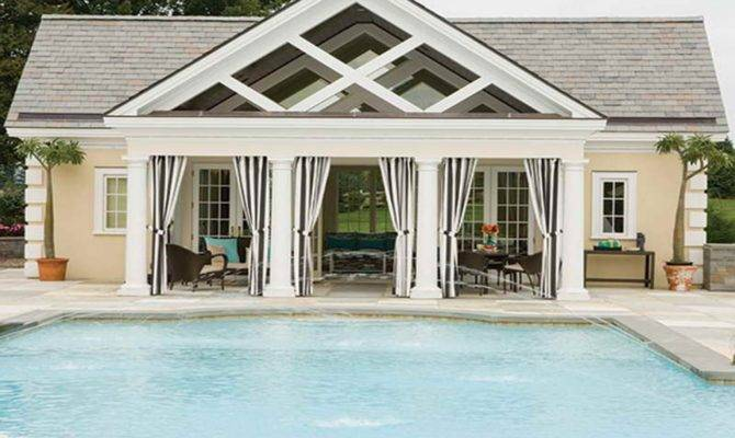 Pool House Guest Designs Modern Plan