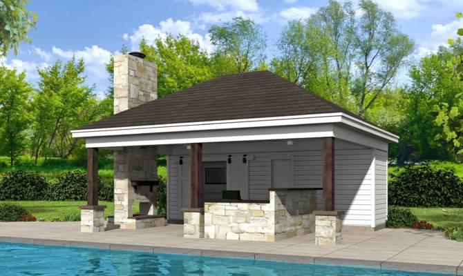 Pool House Plan Plans Garrell Associates
