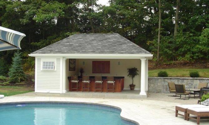 Pool Houses Outdoor Kitchens Designs Ideas House Idea Cabana
