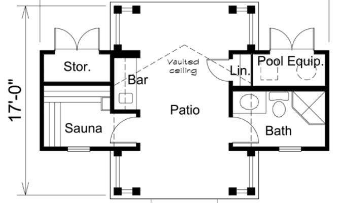 Poolhouse Plan Familyhomeplans