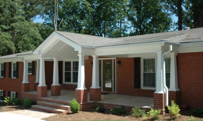 Porch Addition Atlanta Ranch Home