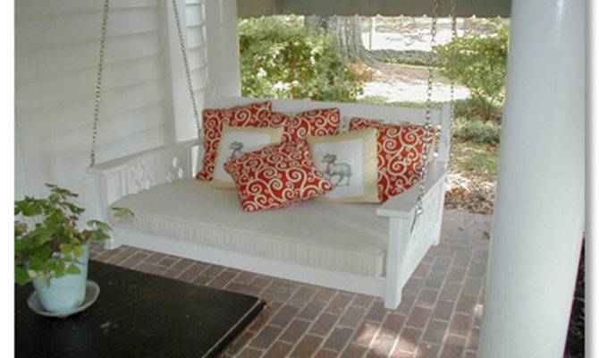 Porch Antique Swing Chair Country Living Bed Coastal