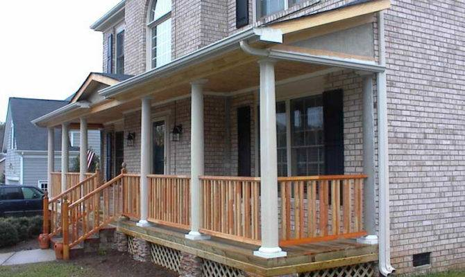 Porch Columns Porches Round Front