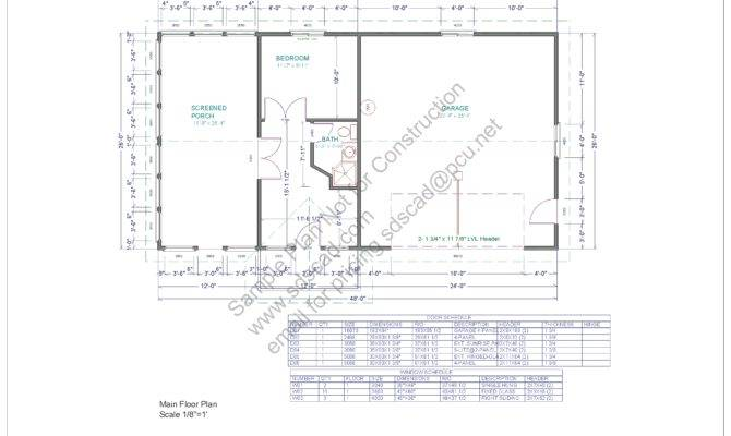 Porch Office Bedroom Garage Plans All One Blueprints Construction