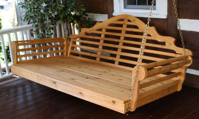 Porch Swing Bed Plans Home Landscaping