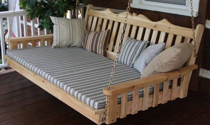 Porch Swing Plans Designs Hanging Bed Tierra Este