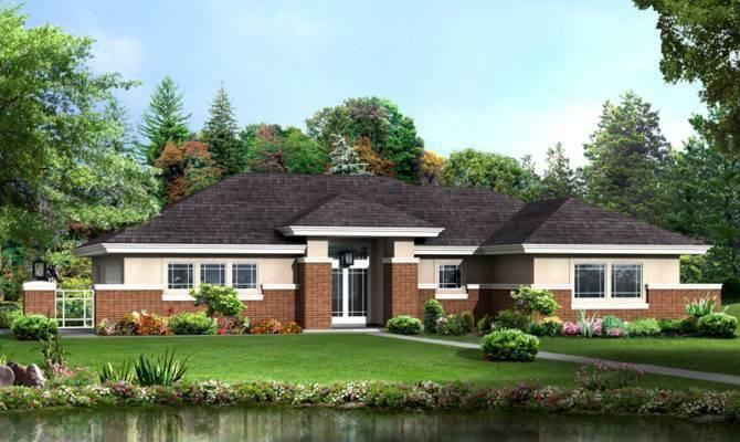 Prairie Lake Vacation Home Plan House Plans