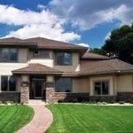 Prairie Style House Plan Angled Garage