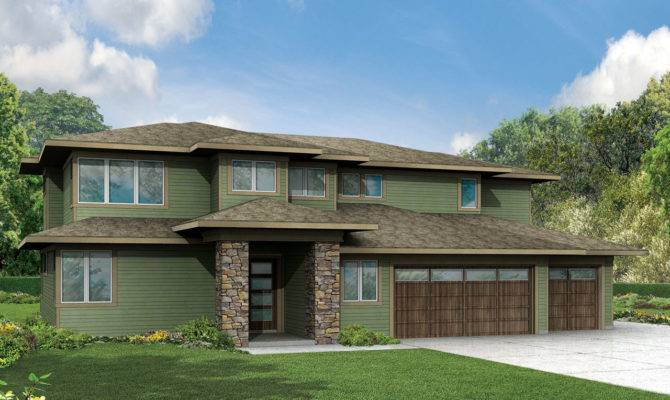 Prairie Style House Plans Brookhill Associated Designs