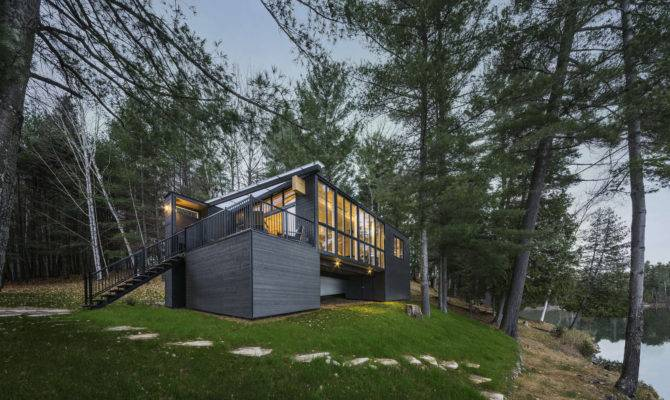 Prefab Lake Cottage Cross Laminated Timber Construction