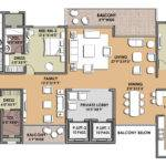 Presentation Drawing Unit Plan Bhk Small