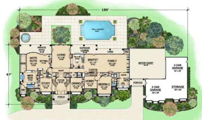 Presidential Estate Porte Cochere House Plan Luxury