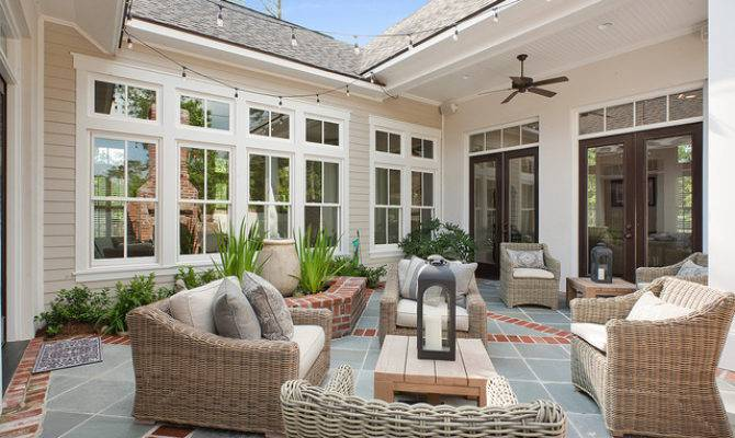Private Courtyard Traditional Patio New Orleans