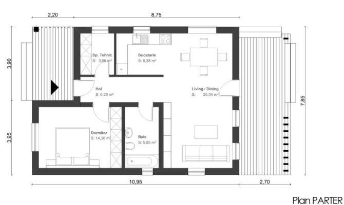 Proiecte Casa Camera Small One Room House Plans