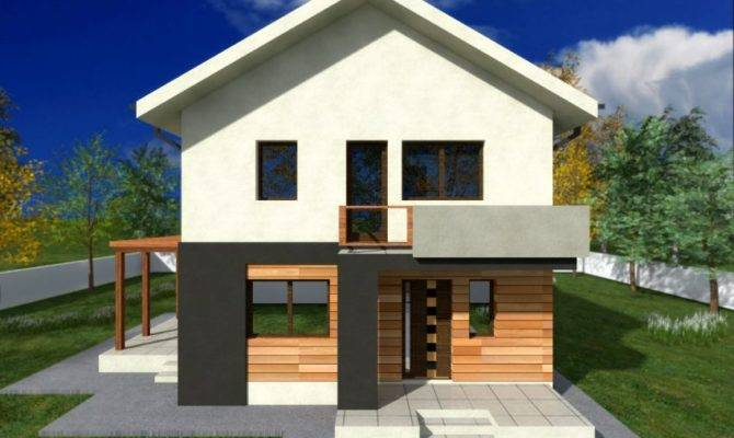 Proiecte Case Mici Etaj Two Story Small House Plans