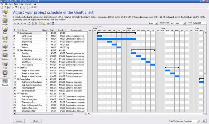 Project Management Templates Kickstart Webplanner