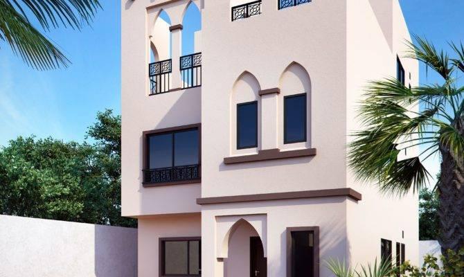 Proposed Rendering Arabic Style Villa