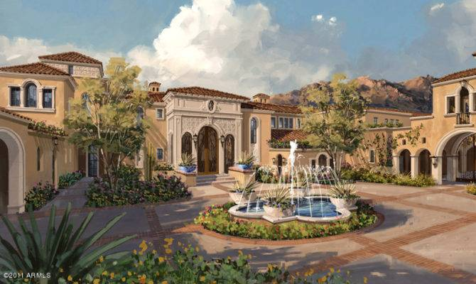 Proposed Spanish Mediterranean Estate Scottsdale Homes