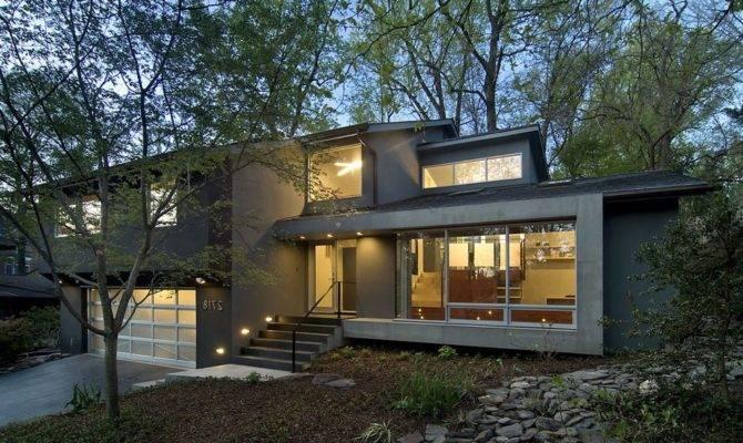 Quad Level Homes Exterior Contemporary Translucent