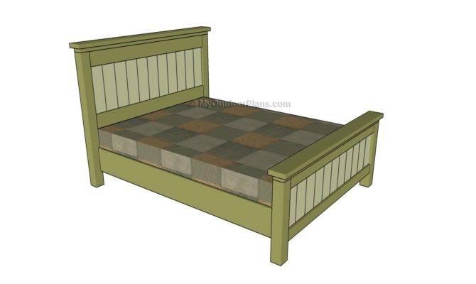 Queen Bed Plans Outdoor Diy Shed