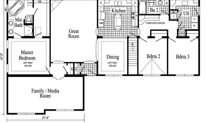 Quincy Ranch Style Modular Home Pennwest Homes Model