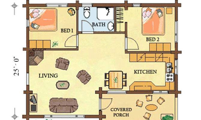 Rainbow Cabin Floorplan