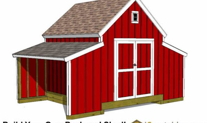 Raised Center Aisle Small Barn Shed Plans