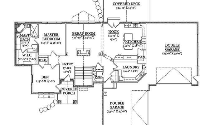 Rambler Home Hmaffdw Traditional House Plan Frontdoor